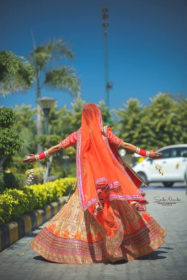 The Typical Twirling Pose For Bridal Shoot by Sourab Sharma Wedding-photography | Weddings Photos & Ideas