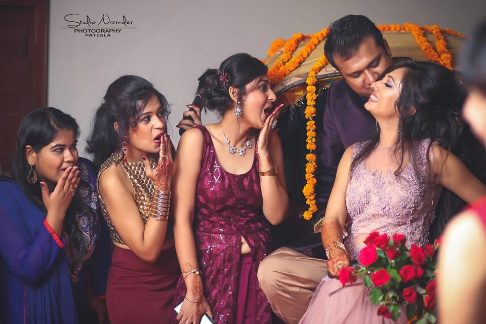Fun Wedding Shoot Of Bridegroom With Bridesmaids by Studio Narinder Photography Wedding-photography | Weddings Photos & Ideas