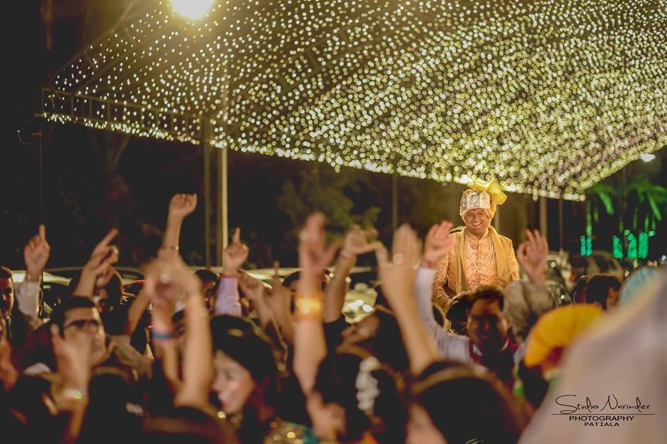 Baarat Arrival Under Stellar Lighting Setup by Sourab Sharma Wedding-photography | Weddings Photos & Ideas