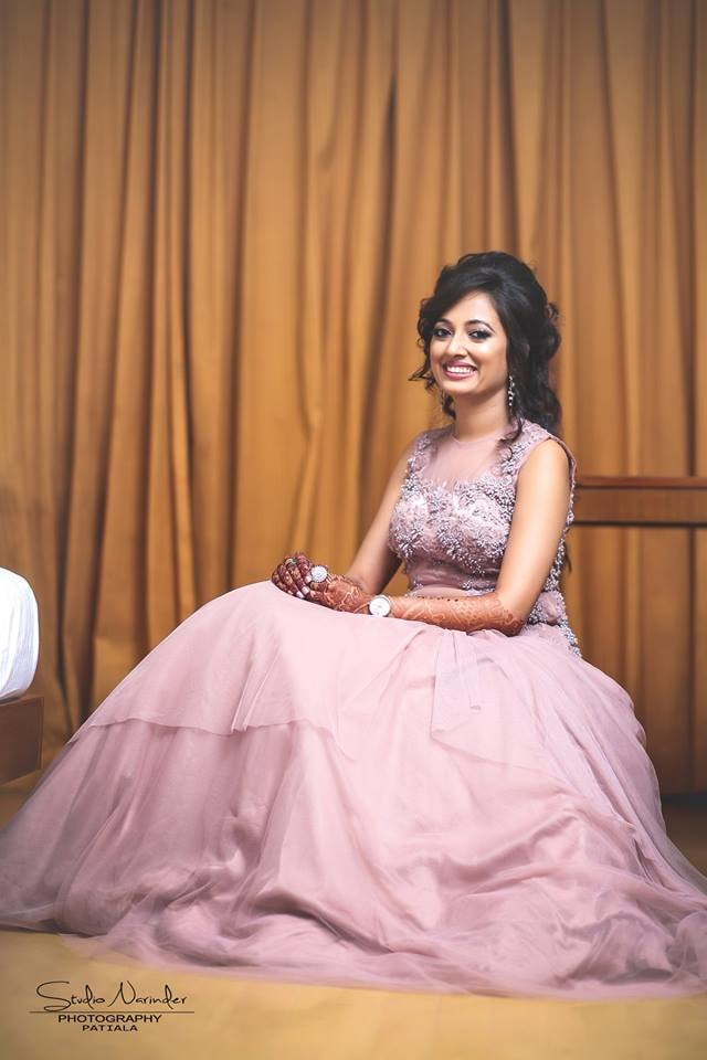 Carnation Pink A-Line Flare Ball Gown by Sourab Sharma Wedding-photography | Weddings Photos & Ideas