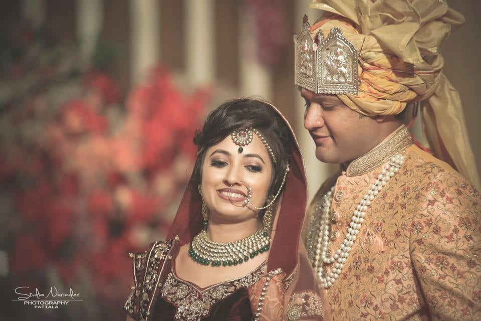 Golden Turban With Silver Head Adjunct And Pearl Beaded Necklace by Sourab Sharma Wedding-photography Groom-wear-and-accessories | Weddings Photos & Ideas