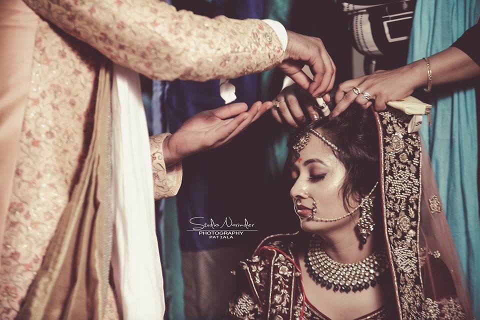Candid Shot of Bride Getting Ready by Sourab Sharma Wedding-photography | Weddings Photos & Ideas