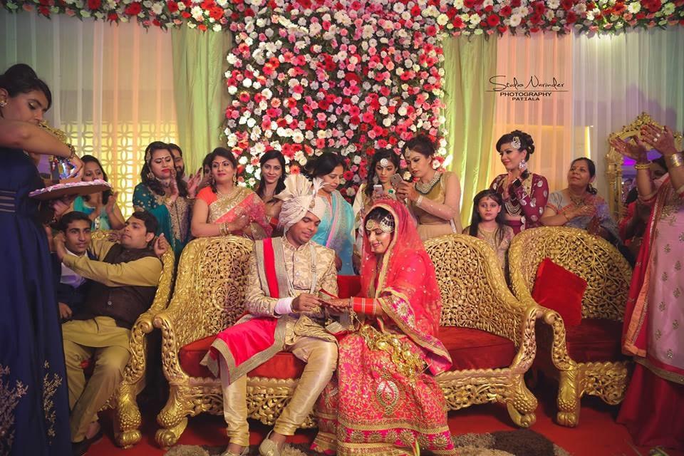 Candid Shot Of Bridegroom Amidst The Ring Ceremony by Sourab Sharma Wedding-photography   Weddings Photos & Ideas