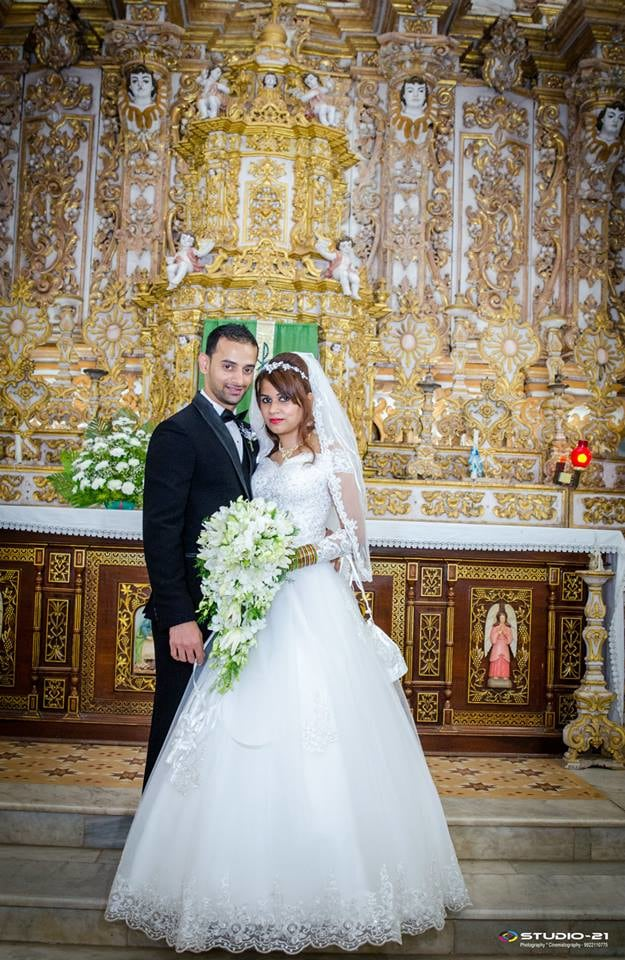 A Conventional Christian Couple In The White Wedding Attire by Terence Savio Pimenta Wedding-photography | Weddings Photos & Ideas