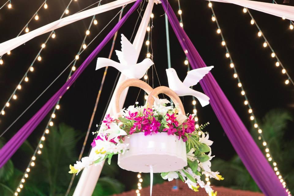 Fancy White Flower Basket Artificial Birds by Terence Savio Pimenta Wedding-photography | Weddings Photos & Ideas