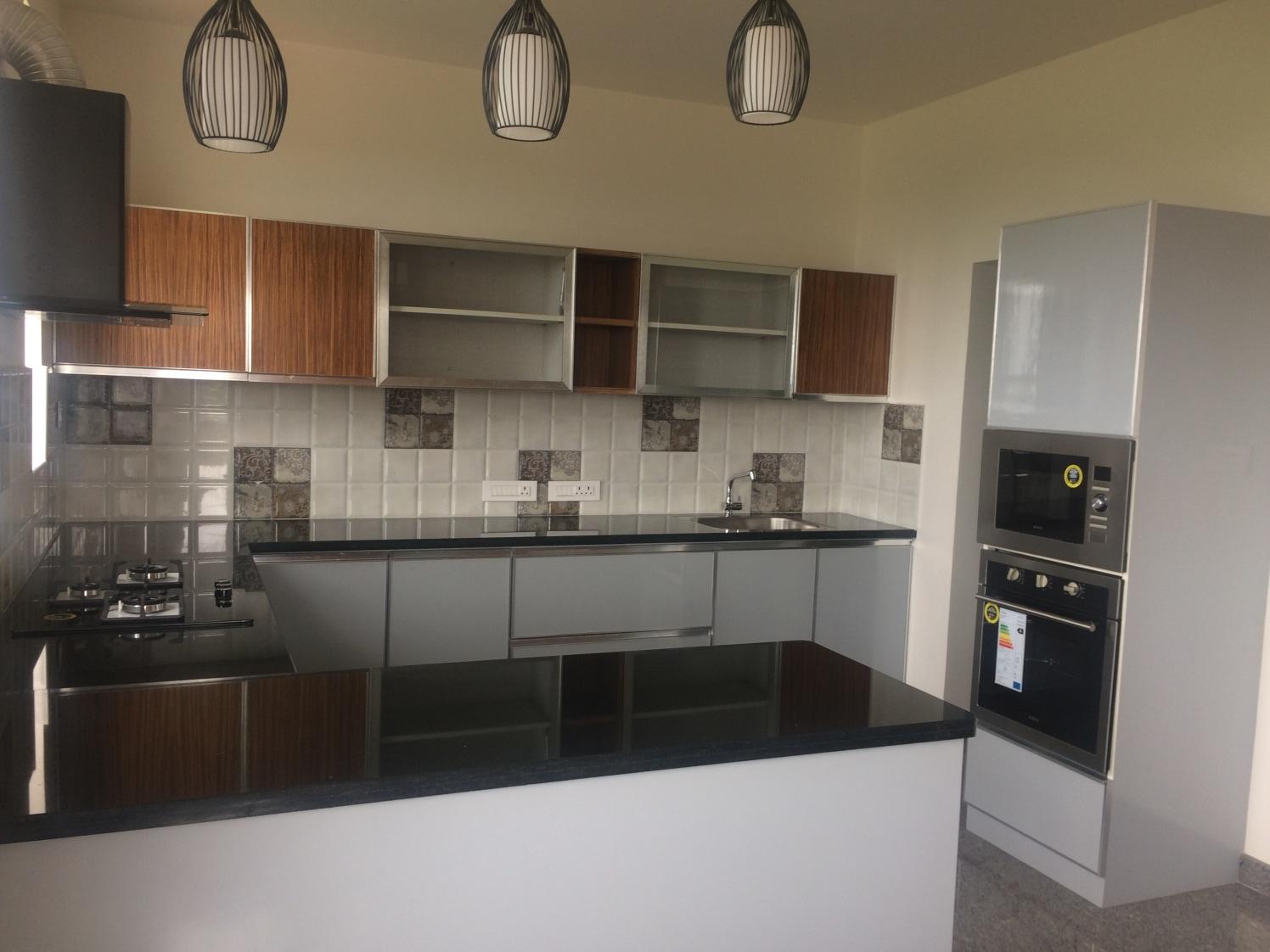 u shaped modular kitchenjps interiors