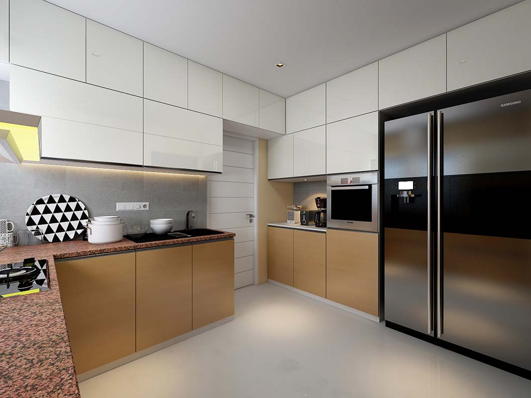 Modern Modular kitchen! by Synergy Ash Architects Modular-kitchen | Interior Design Photos & Ideas