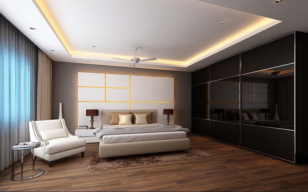 Modern bedroom! by Synergy Ash Architects Bedroom | Interior Design Photos & Ideas