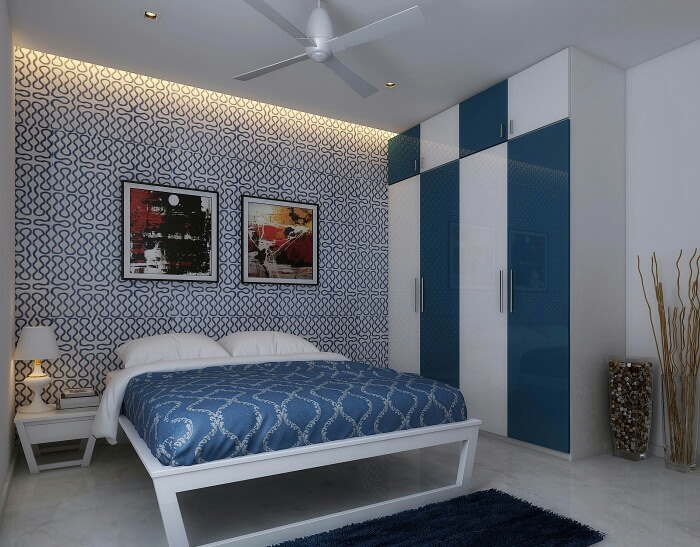 A Blue-Themed Bedroom! by Synergy Ash Architects Bedroom | Interior Design Photos & Ideas