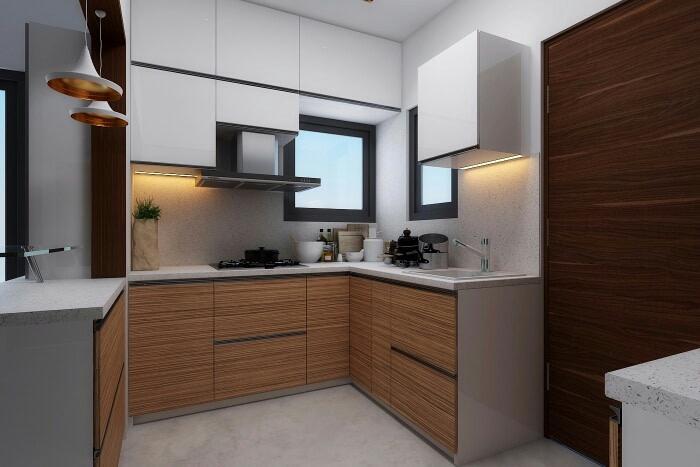 Modular Simple Kitchen! by Synergy Ash Architects Modular-kitchen | Interior Design Photos & Ideas