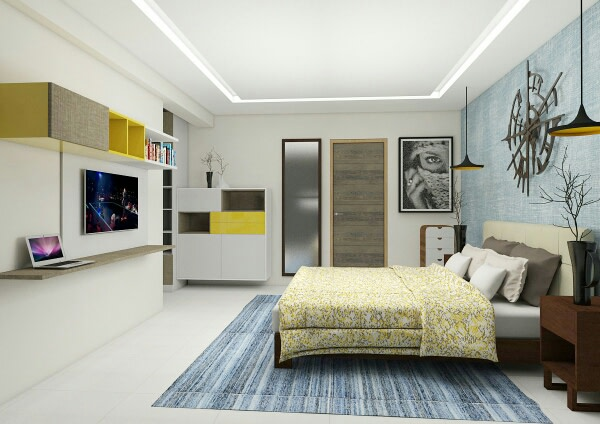 A contemporary bedroom! by Synergy Ash Architects Bedroom | Interior Design Photos & Ideas