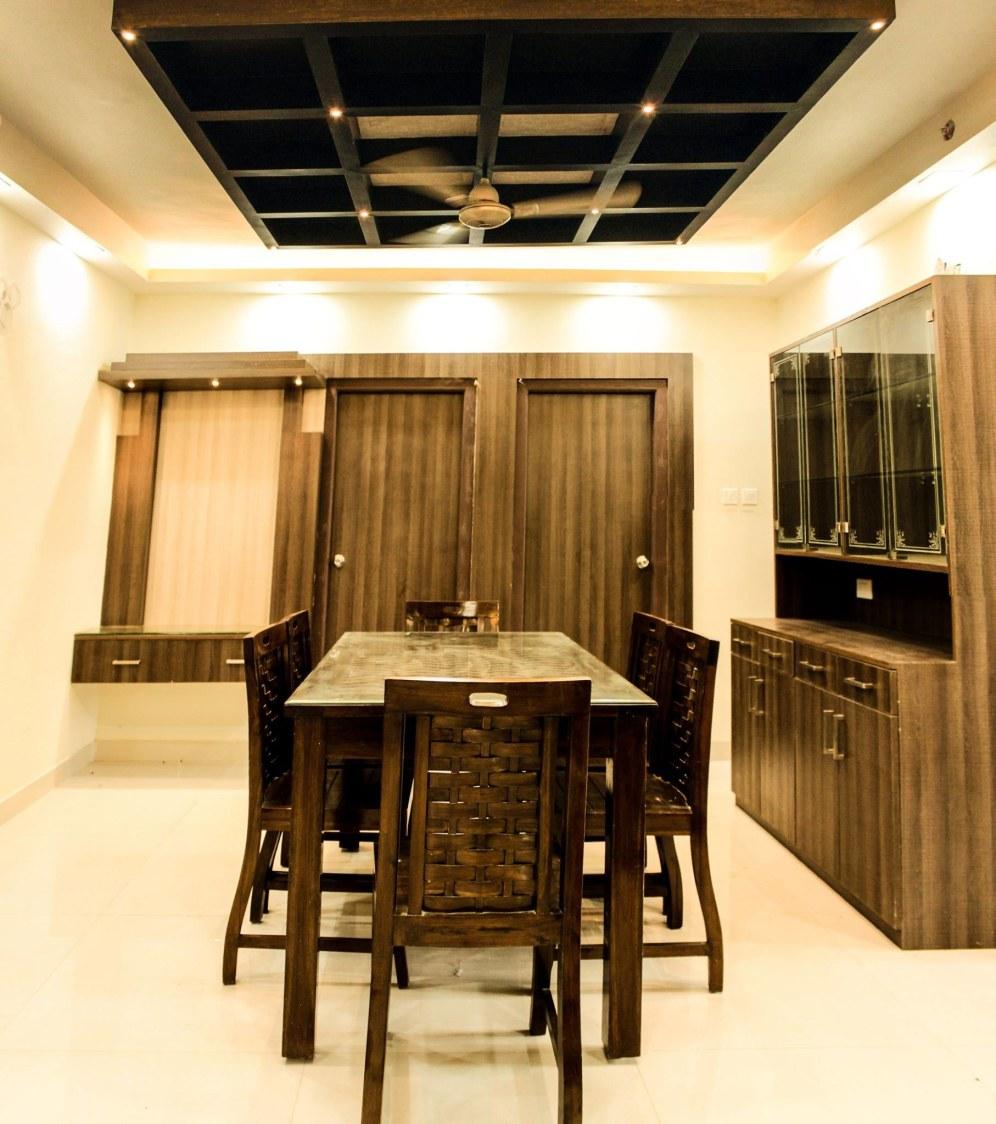 Minimal dining area by Studio Madras Architects