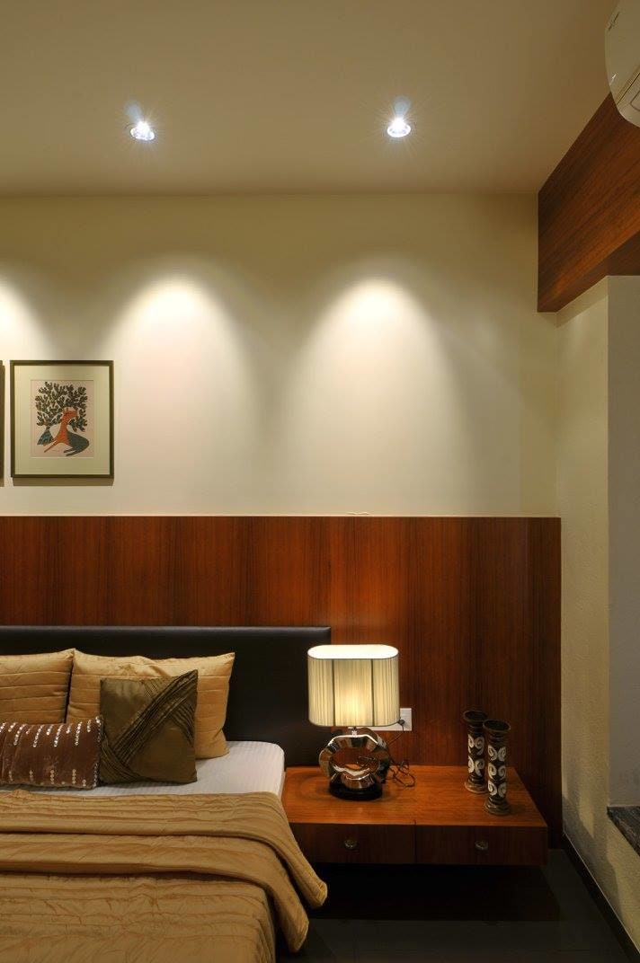 Bedroom with side table by Midas Dezign - The Golden Touch Bedroom Contemporary | Interior Design Photos & Ideas