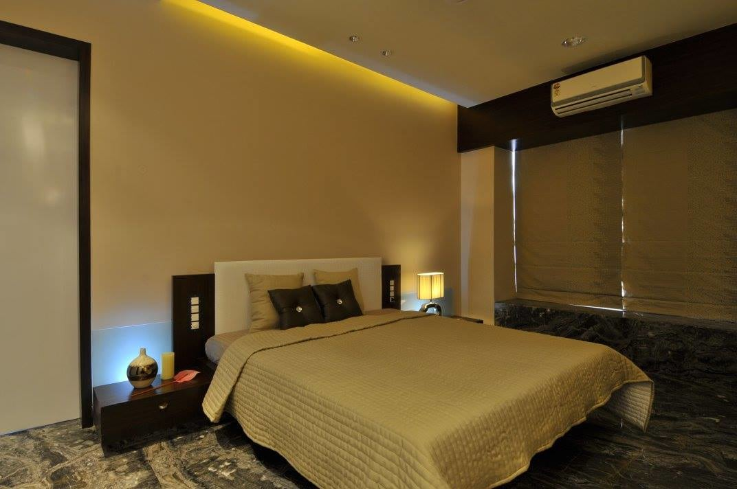 Contemporary bedroom with tv by Midas Dezign - The Golden Touch Bedroom Contemporary | Interior Design Photos & Ideas