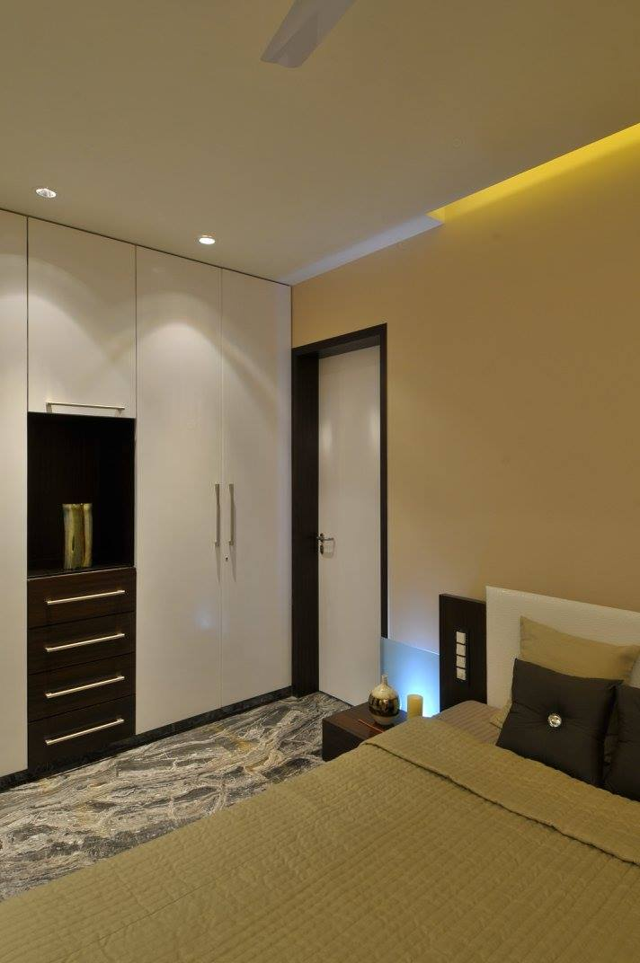 Contemporary bedroom with marble flooring by Midas Dezign - The Golden Touch Contemporary   Interior Design Photos & Ideas