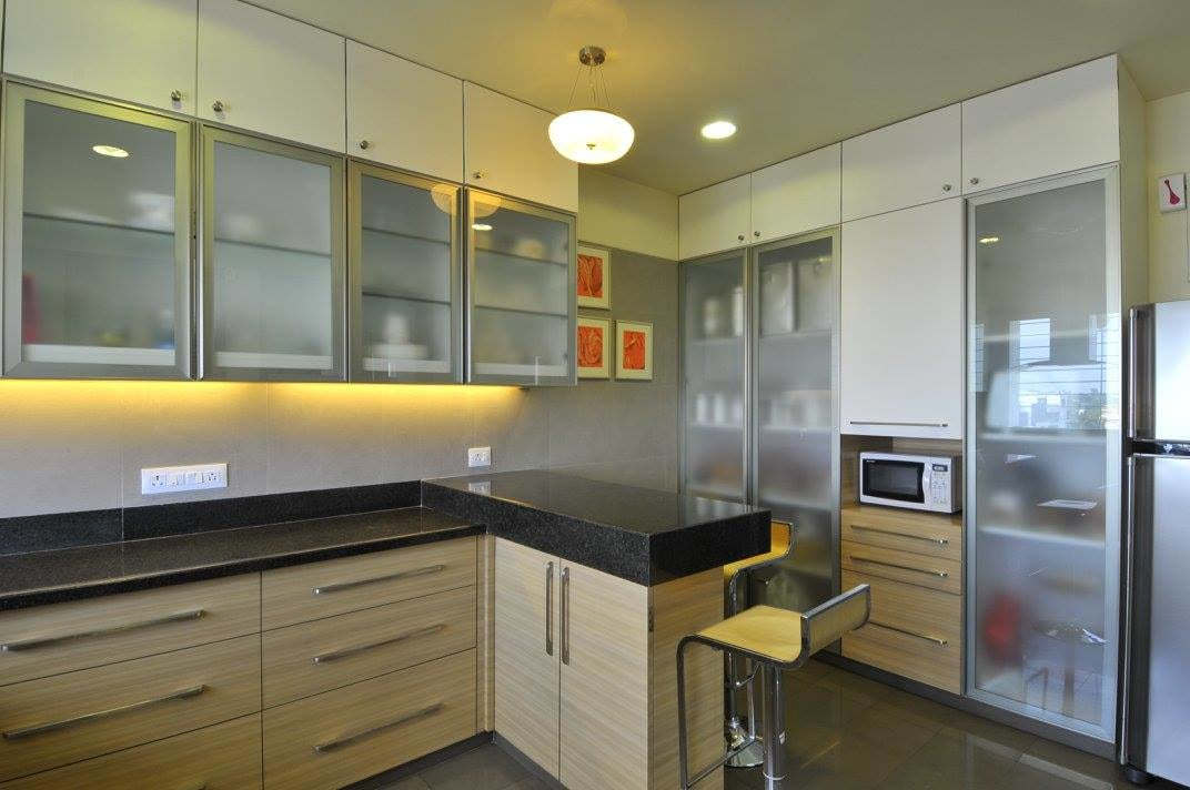Modular L shaped kitchen by Midas Dezign - The Golden Touch Modular-kitchen Modern | Interior Design Photos & Ideas