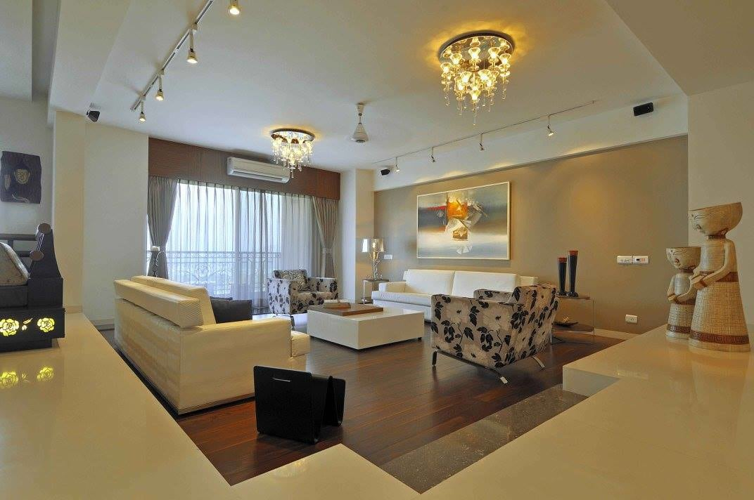 Living room with marble flooring by Midas Dezign - The Golden Touch Living-room Contemporary   Interior Design Photos & Ideas