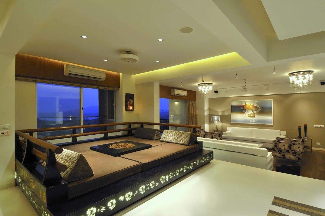Sitting area in the living room by Midas Dezign - The Golden Touch Living-room Contemporary   Interior Design Photos & Ideas