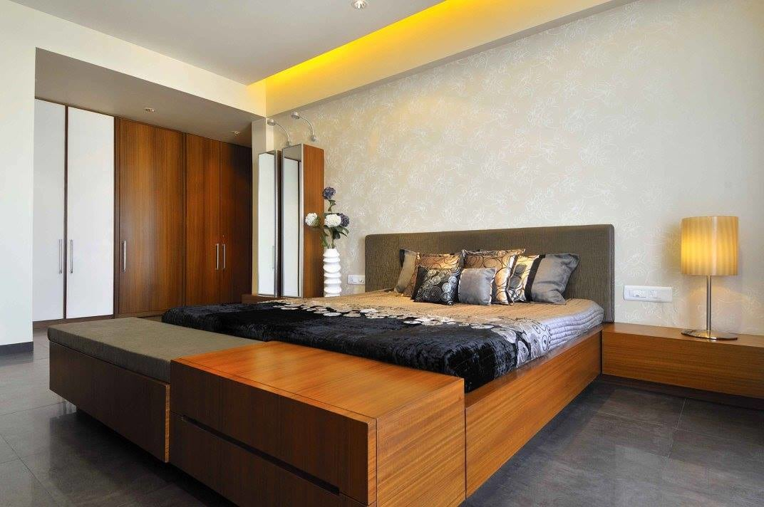 Contemporary bedroom with wooden furniture by Midas Dezign - The Golden Touch Bedroom Contemporary | Interior Design Photos & Ideas