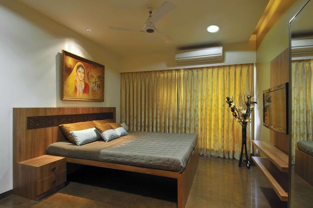 Bedroom with wooden flooring by Midas Dezign - The Golden Touch Bedroom Contemporary | Interior Design Photos & Ideas