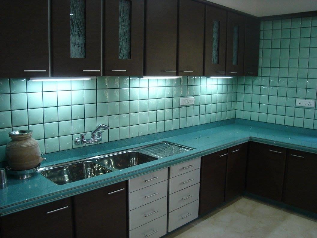 Modular L shaped kitchen by Midas Dezign - The Golden Touch Modular-kitchen Modern | Interior Design Photos & Ideas