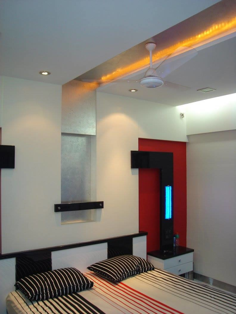 Modern bedroom with false ceiling by Midas Dezign - The Golden Touch Bedroom Modern | Interior Design Photos & Ideas