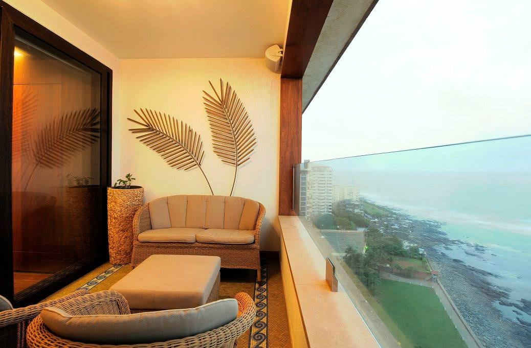 Contemporary balcony view by Midas Dezign - The Golden Touch Open-spaces Contemporary   Interior Design Photos & Ideas