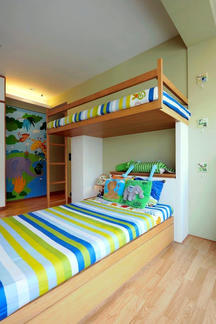 Contemporary kids room with wooden flooring by Midas Dezign - The Golden Touch Bedroom Contemporary | Interior Design Photos & Ideas