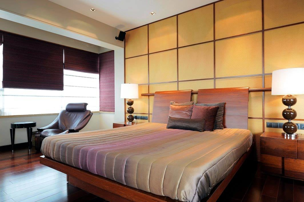 Master bedroom with wooden flooring by Midas Dezign - The Golden Touch Bedroom Contemporary | Interior Design Photos & Ideas