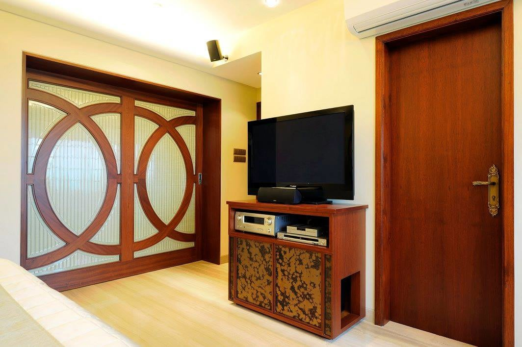 Bedroom with tv unit by Midas Dezign - The Golden Touch Bedroom Contemporary   Interior Design Photos & Ideas