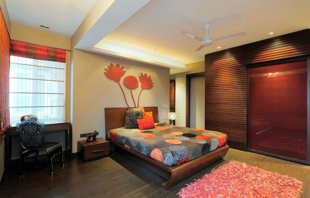 Contemporary bedroom with wooden flooring by Midas Dezign - The Golden Touch Bedroom Contemporary | Interior Design Photos & Ideas