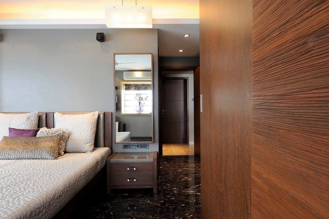 Contemporary bedroom with marble flooring by Midas Dezign - The Golden Touch Contemporary | Interior Design Photos & Ideas