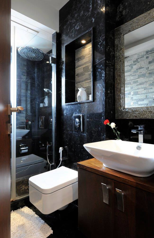 Modern bathroom with fittings and cabinets by Midas Dezign - The Golden Touch Bathroom Modern | Interior Design Photos & Ideas