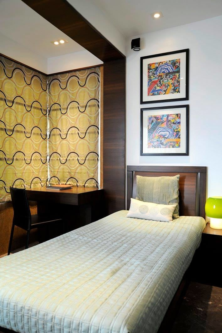 Single bed guest bedroom by Midas Dezign - The Golden Touch Bedroom Contemporary | Interior Design Photos & Ideas