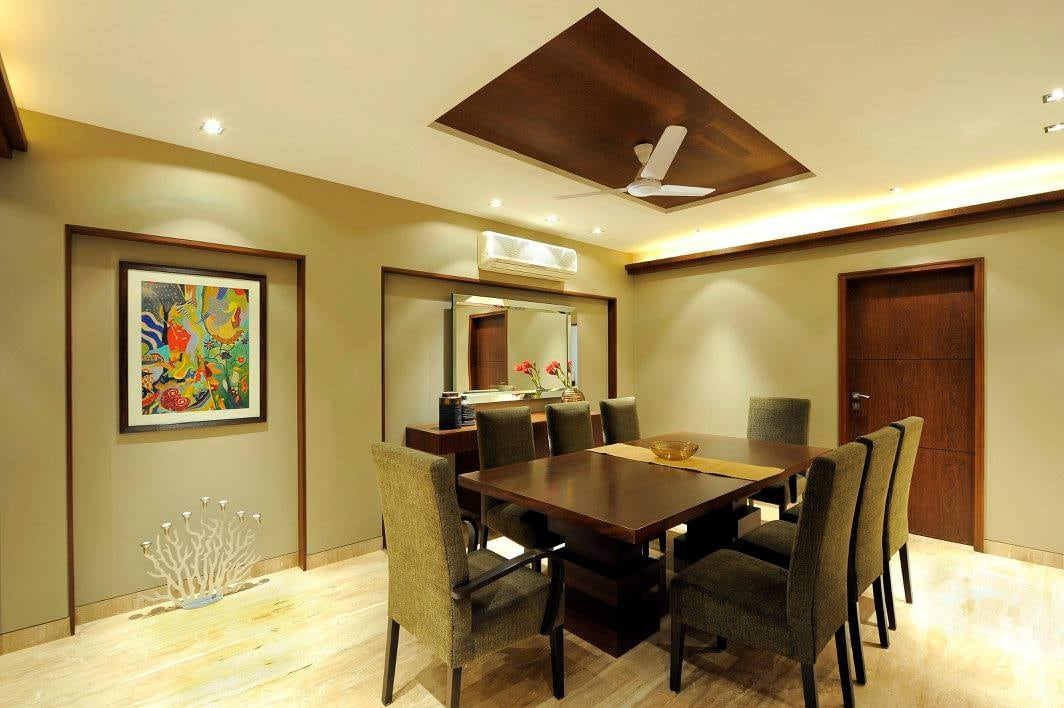 Dining room with false ceiling by Midas Dezign - The Golden Touch Dining-room Contemporary | Interior Design Photos & Ideas