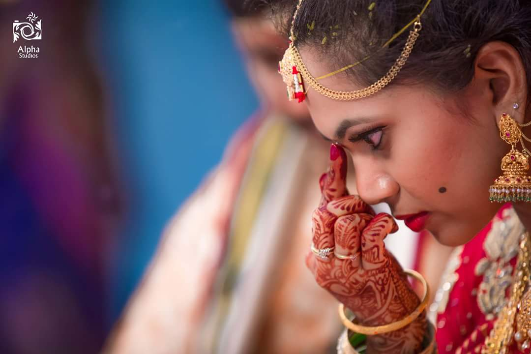 Candid Bride Shot by ALPHA STUDIOS Wedding-photography | Weddings Photos & Ideas