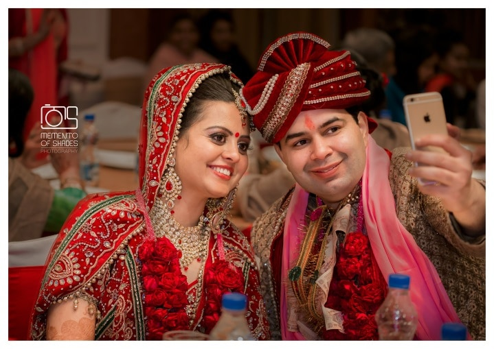Wedding day couple selfie by Memento of Shades Photography Wedding-photography | Weddings Photos & Ideas