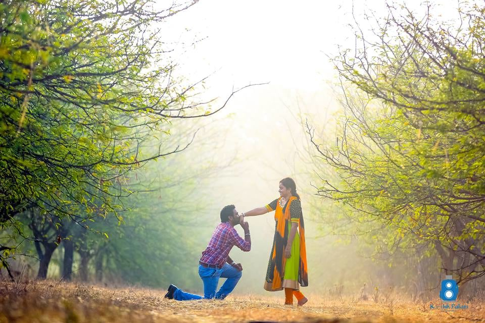 A pre-wedding shoot in the woods! by Kkarthik Pallati photography Wedding-photography | Weddings Photos & Ideas