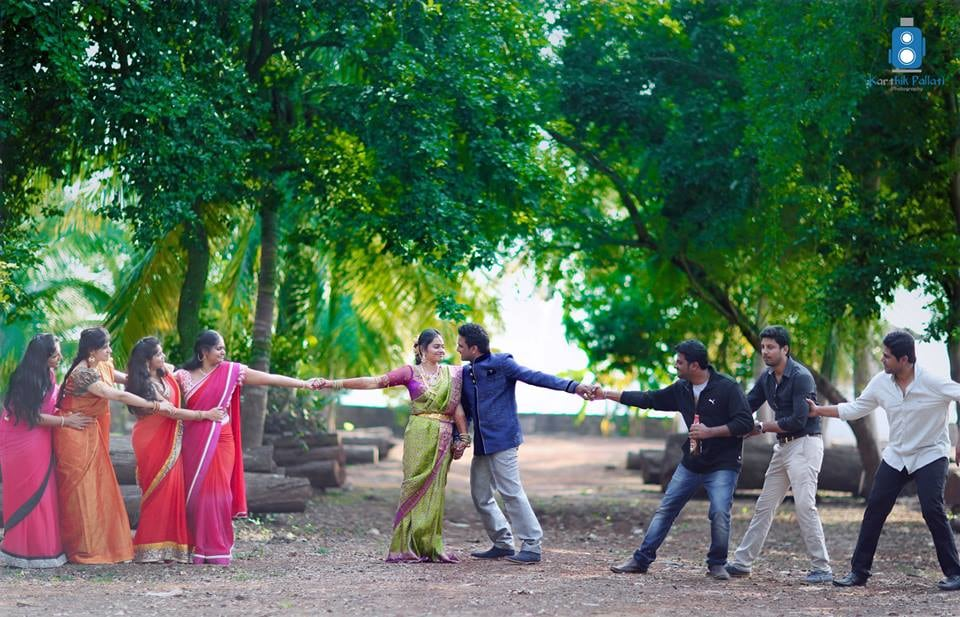 Couple shot with bridesmaid and groomsmen! by Kkarthik Pallati photography Wedding-photography | Weddings Photos & Ideas