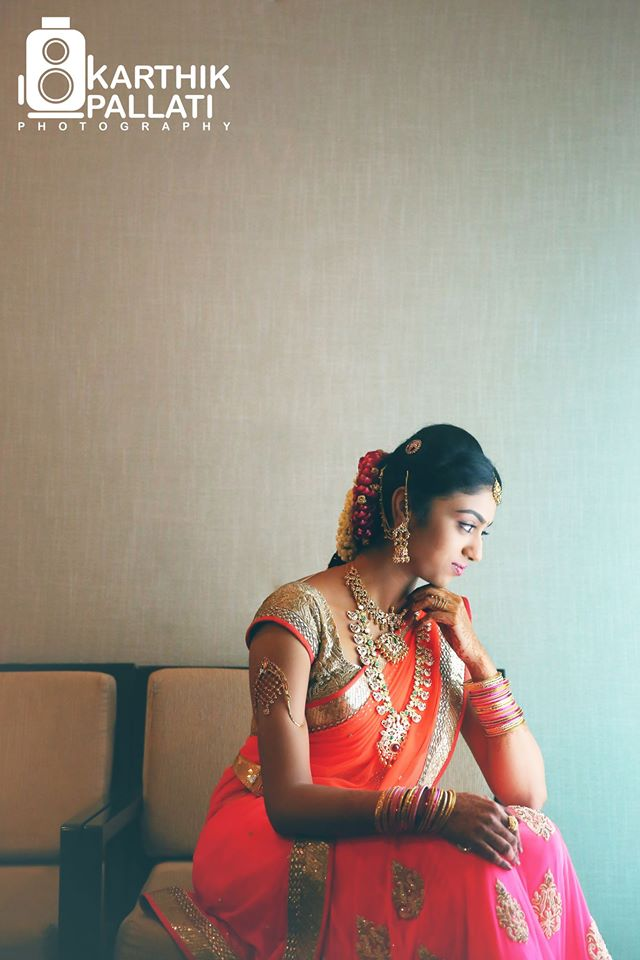Beautiful bride in orange saree! by Kkarthik Pallati photography Wedding-photography | Weddings Photos & Ideas