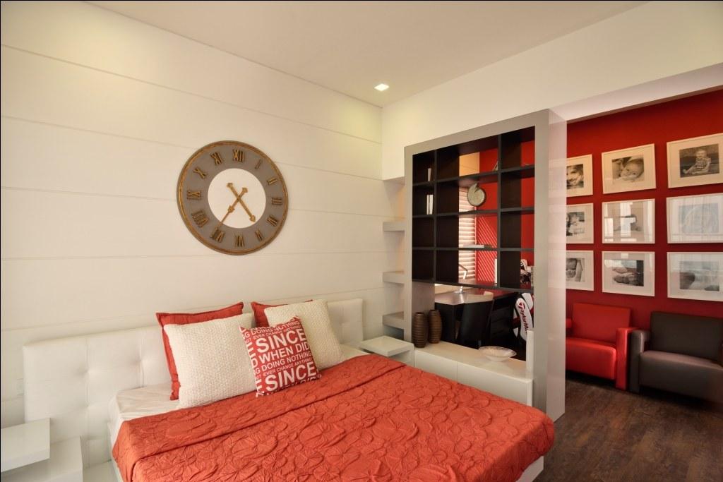 Red Flush by shailendra m prasad  Bedroom Contemporary Contemporary | Interior Design Photos & Ideas