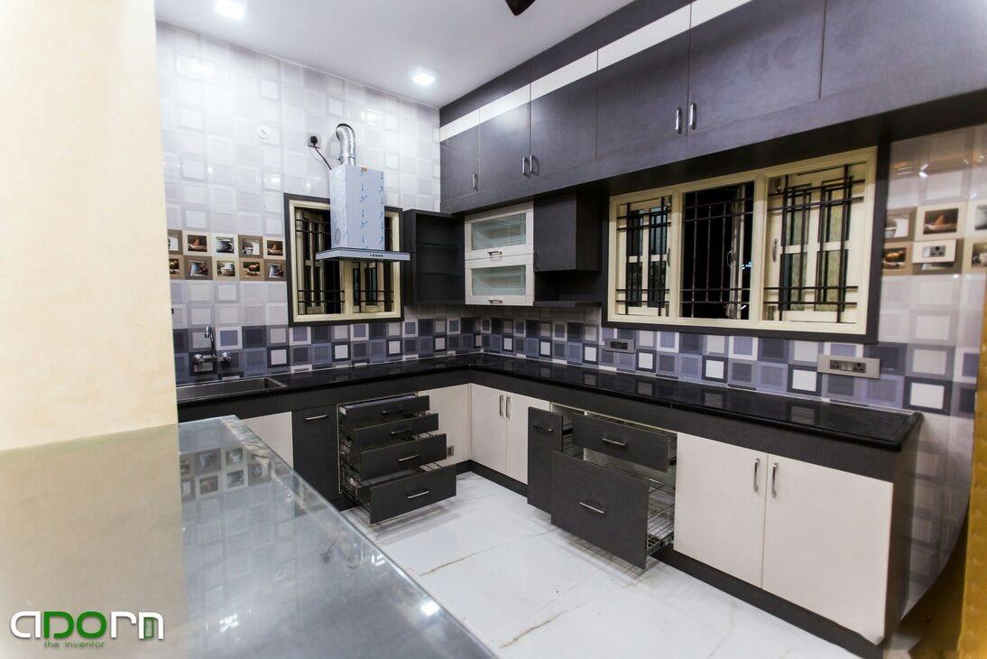 The Homely Kitchen ! by adorn Modular-kitchen Modern   Interior Design Photos & Ideas