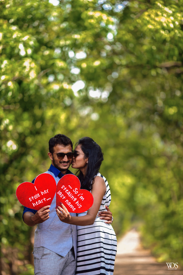 Romantic Pre-Weddimg Shoot Using Unique Text Boards by Sameer Panchpor Wedding-photography | Weddings Photos & Ideas