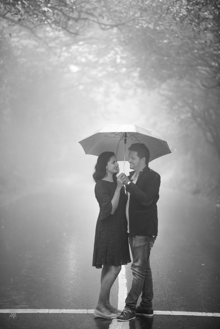Pre Wedding Romantic Couple Shot Using Umbrella by Sameer Panchpor Wedding-photography | Weddings Photos & Ideas
