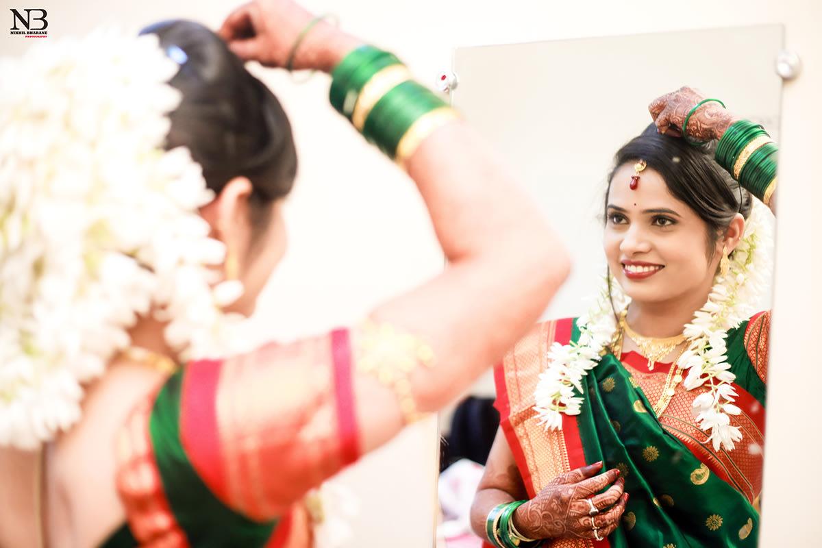 Conventional Marathi Bride Getting Ready by Nikhil Y. Bharane Wedding-photography | Weddings Photos & Ideas