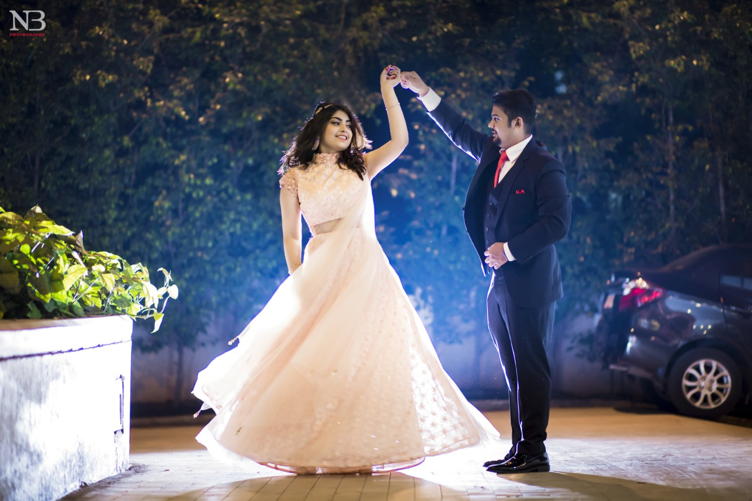 Enthralling Glimpse Of Bride Twirling In Her Alluring Peach Flared Lehenga by Nikhil Y. Bharane Wedding-photography | Weddings Photos & Ideas