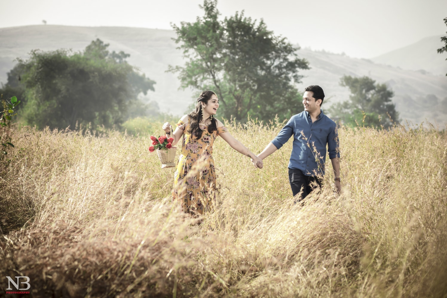 Romantic Pre-Wedding Shoot In A Wheat Field Background by Nikhil Y. Bharane Wedding-photography | Weddings Photos & Ideas