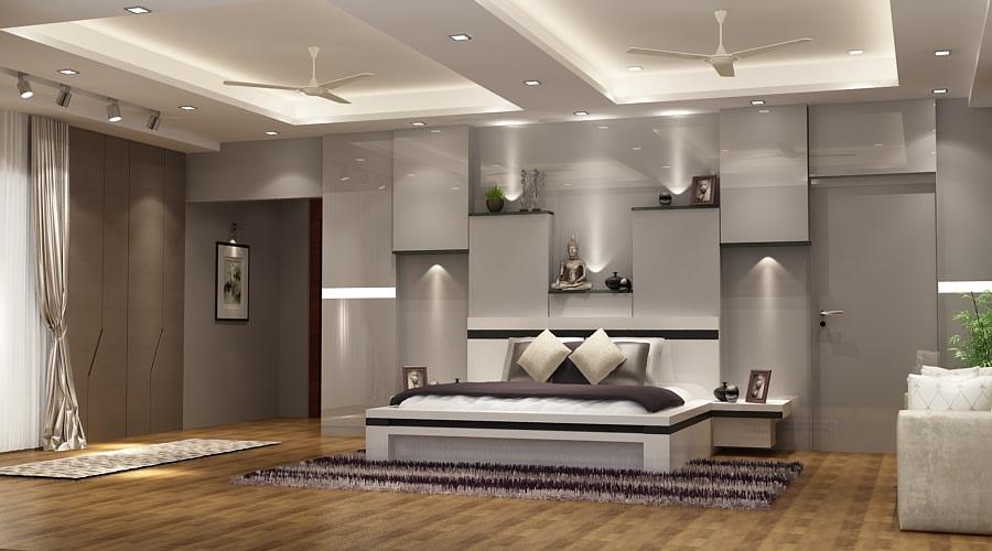 3D design of a master bedroom by SA Design Group Bedroom Modern | Interior Design Photos & Ideas