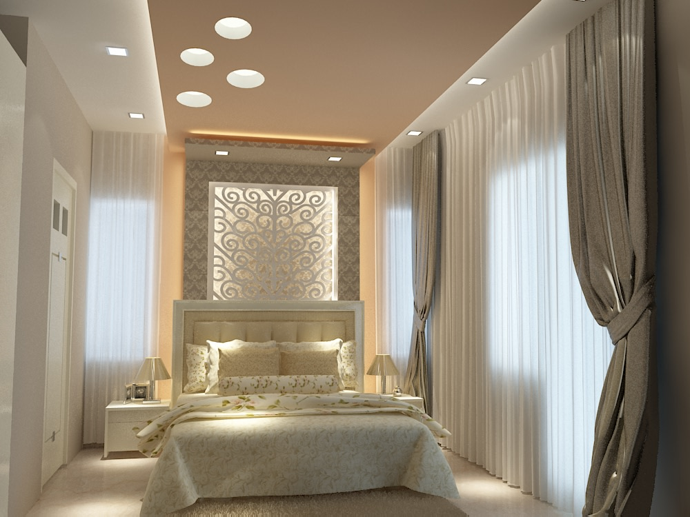3D design of a modern guest bedroom by SA Design Group Bedroom Modern | Interior Design Photos & Ideas