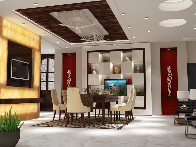 3D design of a modern dining room by SA Design Group Dining-room Modern | Interior Design Photos & Ideas